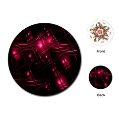 Picture Of Love In Magenta Declaration Of Love Playing Cards (round)