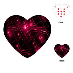 Picture Of Love In Magenta Declaration Of Love Playing Cards (Heart)