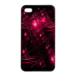 Picture Of Love In Magenta Declaration Of Love Apple Iphone 4/4s Seamless Case (black)