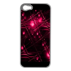 Picture Of Love In Magenta Declaration Of Love Apple iPhone 5 Case (Silver)