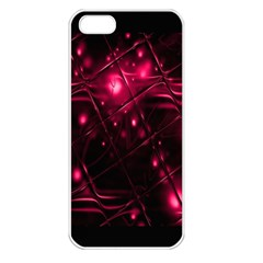 Picture Of Love In Magenta Declaration Of Love Apple iPhone 5 Seamless Case (White)