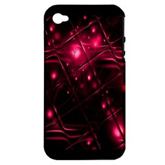Picture Of Love In Magenta Declaration Of Love Apple iPhone 4/4S Hardshell Case (PC+Silicone)