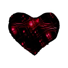 Picture Of Love In Magenta Declaration Of Love Standard 16  Premium Heart Shape Cushions