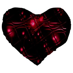 Picture Of Love In Magenta Declaration Of Love Large 19  Premium Heart Shape Cushions