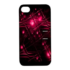 Picture Of Love In Magenta Declaration Of Love Apple iPhone 4/4S Hardshell Case with Stand