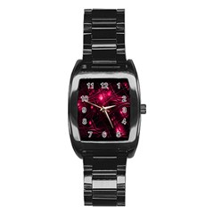 Picture Of Love In Magenta Declaration Of Love Stainless Steel Barrel Watch