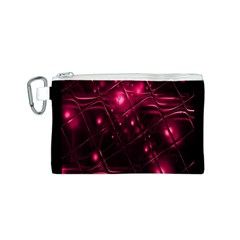 Picture Of Love In Magenta Declaration Of Love Canvas Cosmetic Bag (S)