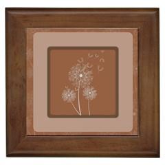Dandelion Frame Card Template For Scrapbooking Framed Tiles