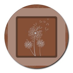 Dandelion Frame Card Template For Scrapbooking Round Mousepads