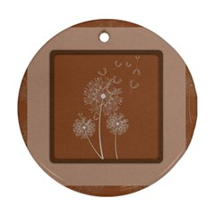 Dandelion Frame Card Template For Scrapbooking Ornament (round)
