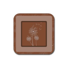 Dandelion Frame Card Template For Scrapbooking Rubber Square Coaster (4 Pack)