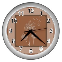 Dandelion Frame Card Template For Scrapbooking Wall Clocks (silver)