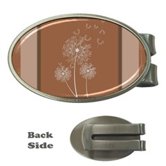 Dandelion Frame Card Template For Scrapbooking Money Clips (oval)