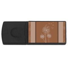 Dandelion Frame Card Template For Scrapbooking USB Flash Drive Rectangular (4 GB)