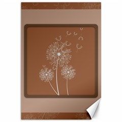 Dandelion Frame Card Template For Scrapbooking Canvas 12  X 18