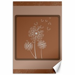 Dandelion Frame Card Template For Scrapbooking Canvas 20  X 30