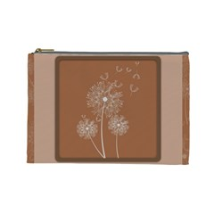 Dandelion Frame Card Template For Scrapbooking Cosmetic Bag (large)