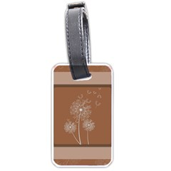 Dandelion Frame Card Template For Scrapbooking Luggage Tags (two Sides)