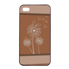 Dandelion Frame Card Template For Scrapbooking Apple iPhone 4/4s Seamless Case (Black)