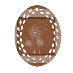 Dandelion Frame Card Template For Scrapbooking Oval Filigree Ornament (two Sides)