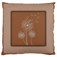 Dandelion Frame Card Template For Scrapbooking Large Cushion Case (Two Sides)