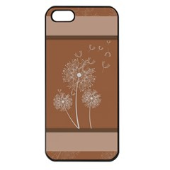 Dandelion Frame Card Template For Scrapbooking Apple Iphone 5 Seamless Case (black)