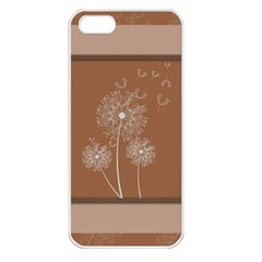 Dandelion Frame Card Template For Scrapbooking Apple iPhone 5 Seamless Case (White)