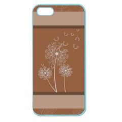 Dandelion Frame Card Template For Scrapbooking Apple Seamless iPhone 5 Case (Color)