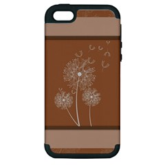 Dandelion Frame Card Template For Scrapbooking Apple iPhone 5 Hardshell Case (PC+Silicone)