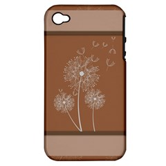 Dandelion Frame Card Template For Scrapbooking Apple iPhone 4/4S Hardshell Case (PC+Silicone)