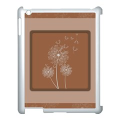 Dandelion Frame Card Template For Scrapbooking Apple iPad 3/4 Case (White)