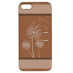 Dandelion Frame Card Template For Scrapbooking Apple iPhone 5 Hardshell Case with Stand