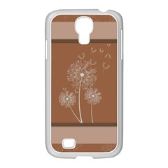 Dandelion Frame Card Template For Scrapbooking Samsung Galaxy S4 I9500/ I9505 Case (white)