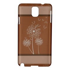 Dandelion Frame Card Template For Scrapbooking Samsung Galaxy Note 3 N9005 Hardshell Case