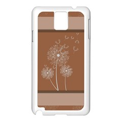 Dandelion Frame Card Template For Scrapbooking Samsung Galaxy Note 3 N9005 Case (White)