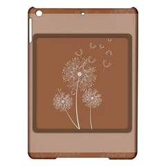 Dandelion Frame Card Template For Scrapbooking iPad Air Hardshell Cases