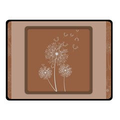 Dandelion Frame Card Template For Scrapbooking Double Sided Fleece Blanket (Small)