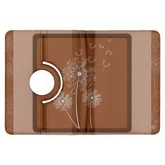 Dandelion Frame Card Template For Scrapbooking Kindle Fire HDX Flip 360 Case