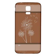 Dandelion Frame Card Template For Scrapbooking Samsung Galaxy S5 Back Case (White)