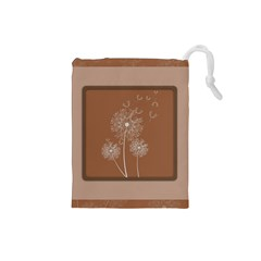 Dandelion Frame Card Template For Scrapbooking Drawstring Pouches (Small)