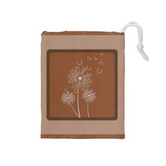 Dandelion Frame Card Template For Scrapbooking Drawstring Pouches (Medium)