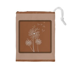 Dandelion Frame Card Template For Scrapbooking Drawstring Pouches (Large)