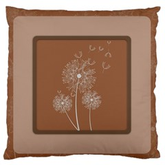 Dandelion Frame Card Template For Scrapbooking Large Flano Cushion Case (One Side)