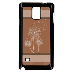Dandelion Frame Card Template For Scrapbooking Samsung Galaxy Note 4 Case (Black)