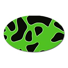 Black Green Abstract Shapes A Completely Seamless Tile Able Background Oval Magnet