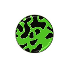 Black Green Abstract Shapes A Completely Seamless Tile Able Background Hat Clip Ball Marker (10 Pack)