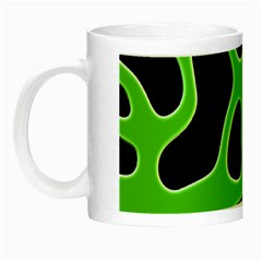 Black Green Abstract Shapes A Completely Seamless Tile Able Background Night Luminous Mugs
