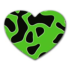 Black Green Abstract Shapes A Completely Seamless Tile Able Background Heart Mousepads