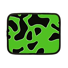 Black Green Abstract Shapes A Completely Seamless Tile Able Background Netbook Case (Small)