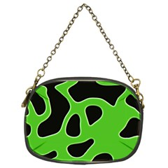 Black Green Abstract Shapes A Completely Seamless Tile Able Background Chain Purses (Two Sides)
